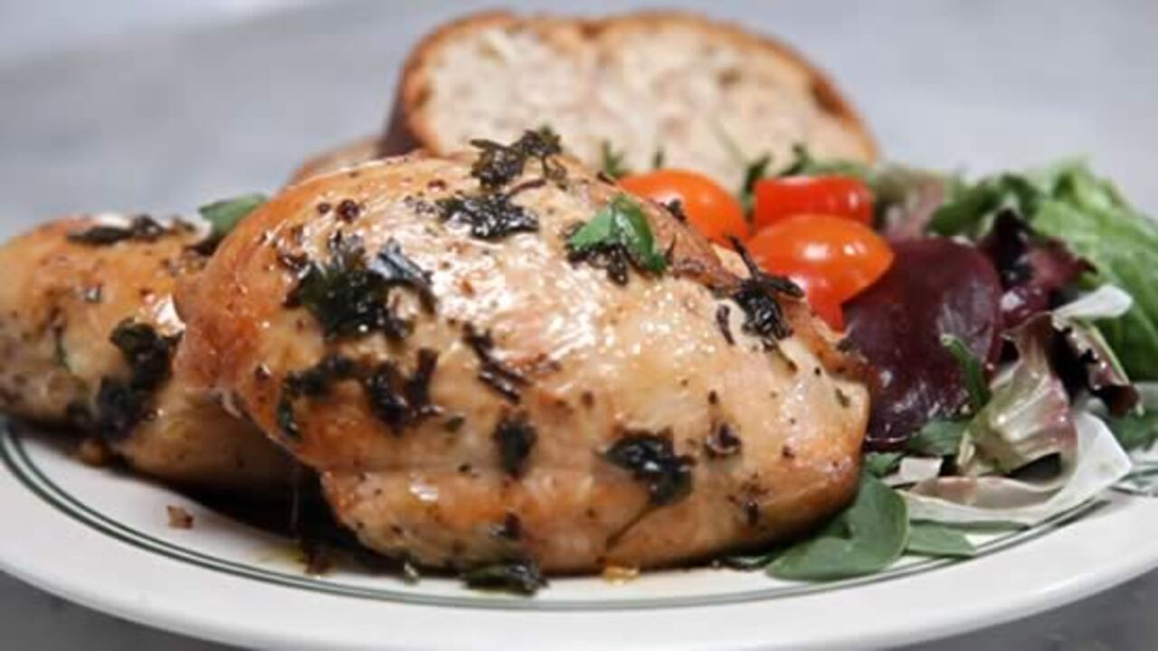 how to make roasted chicken breasts video