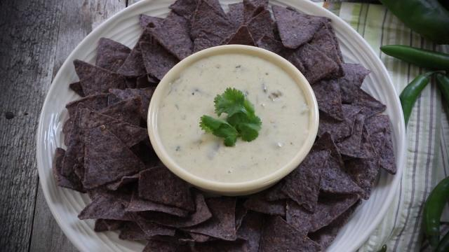mexican white cheese dip sauce video