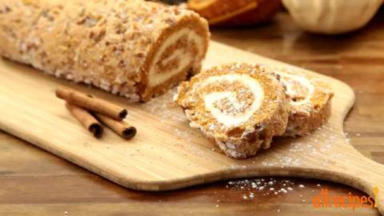 pumpkin roll cake video
