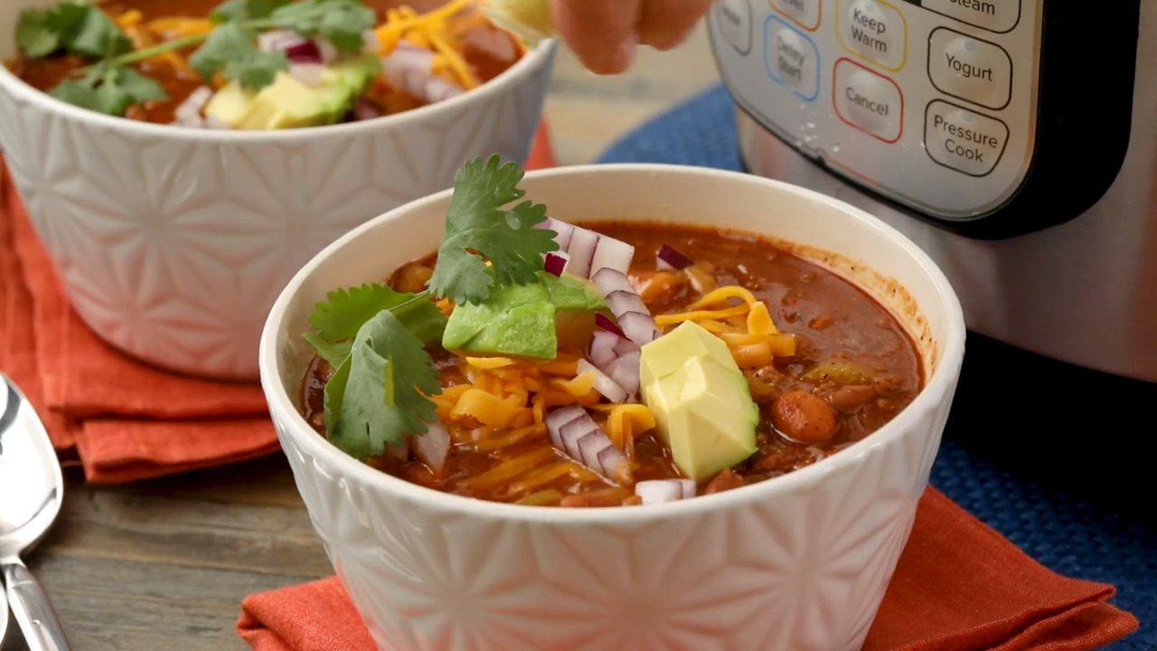 instant pot quick and easy outlaw chili beans video