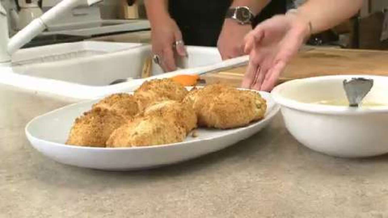 Chicken Stuffed Crescent Rolls Video Allrecipes Com