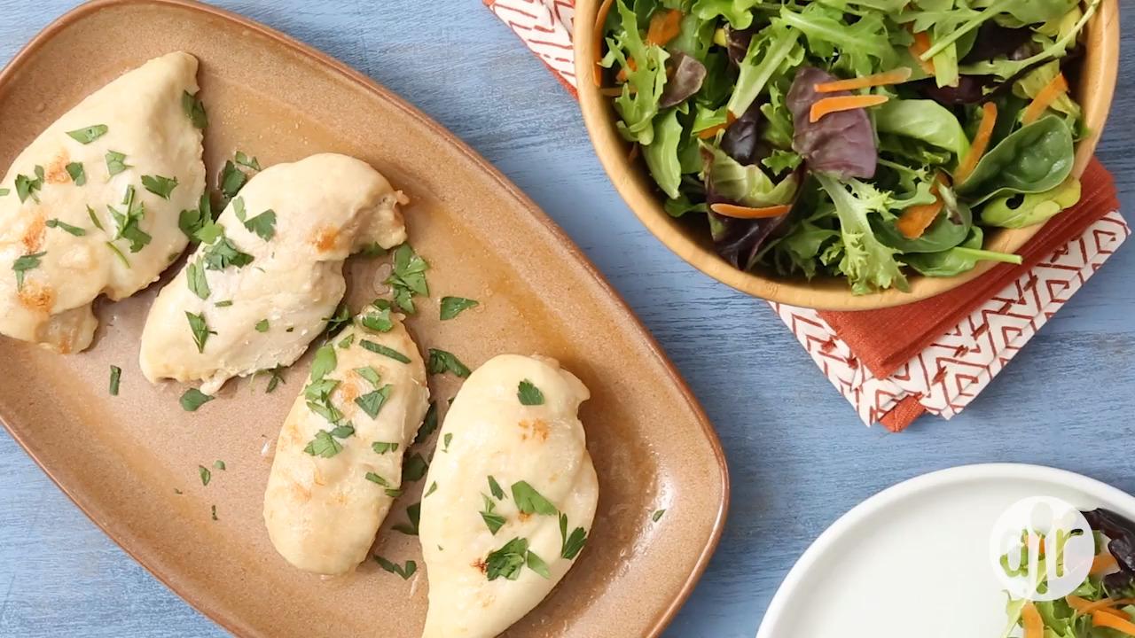 three ingredient baked chicken breasts video