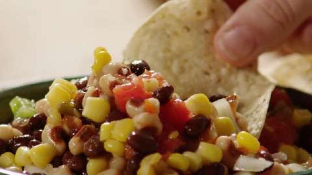 spicy bean salsa video