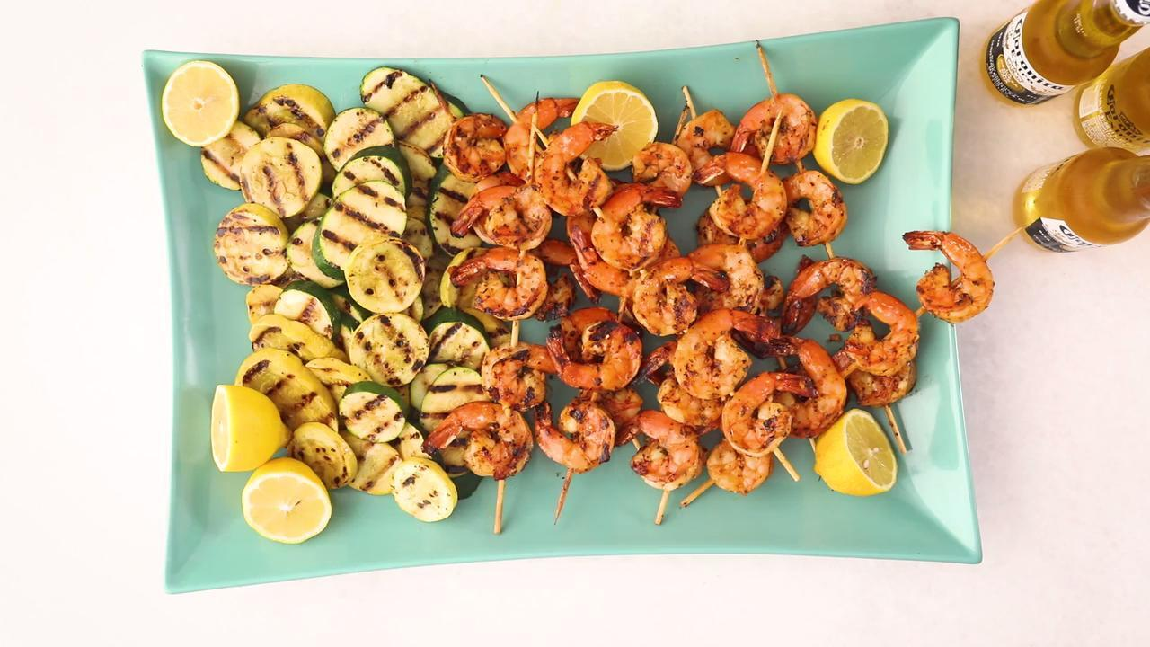 grilled garlic and herb shrimp video