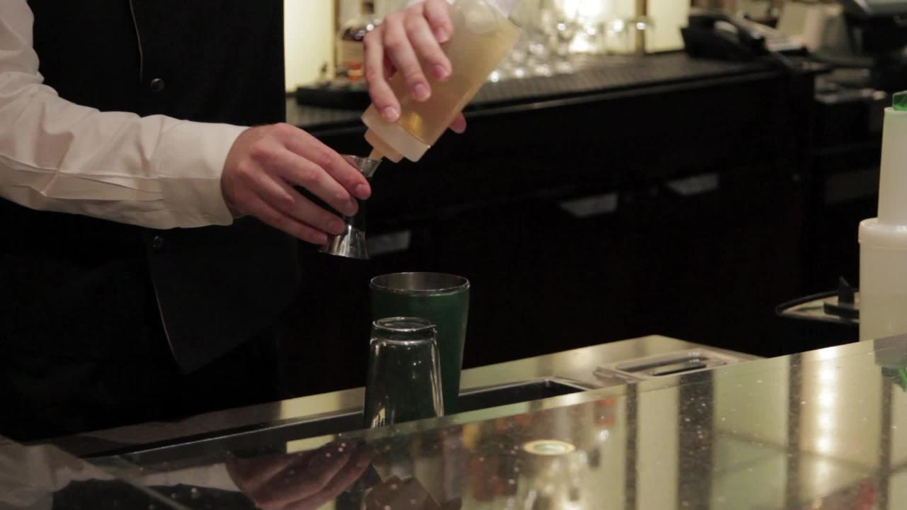 minted rosemary rose cocktail video