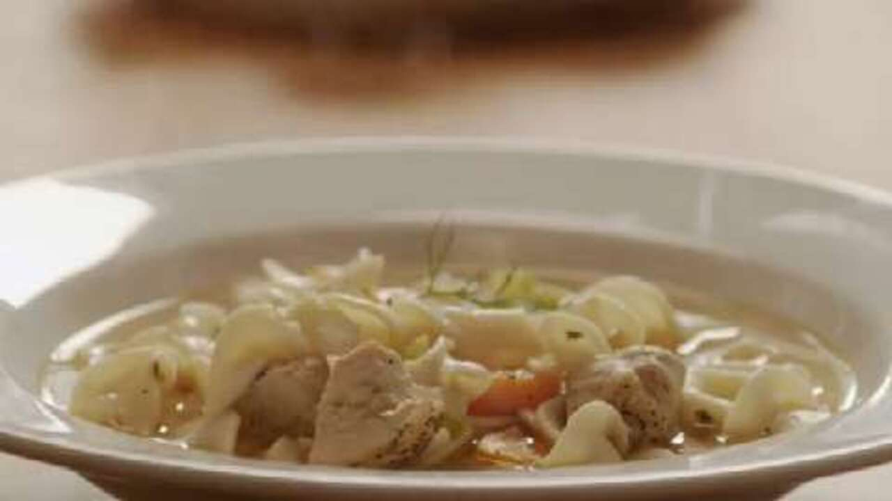 quick and easy chicken noodle soup video