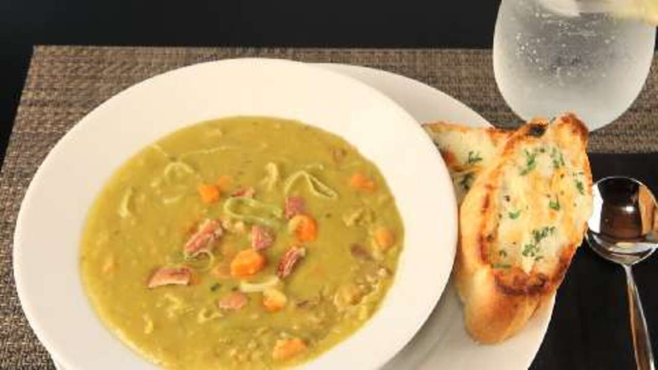 split pea soup with rosemary video