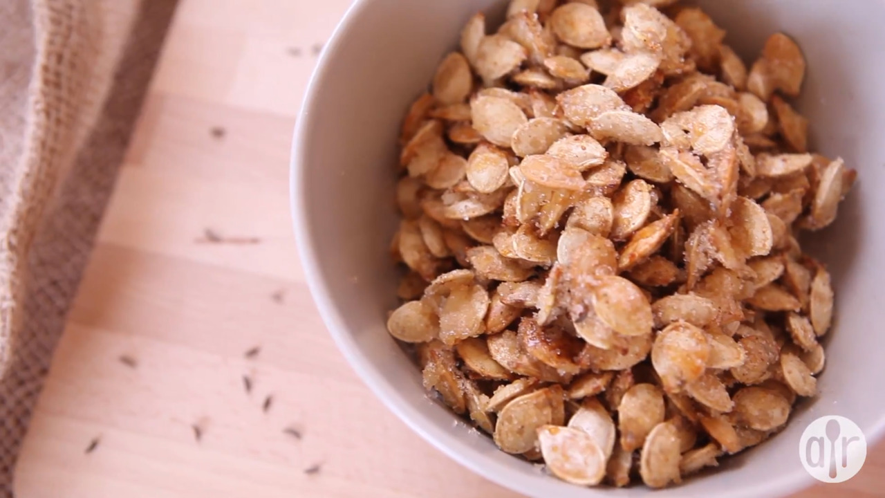 caramelized spicy pumpkin seeds video