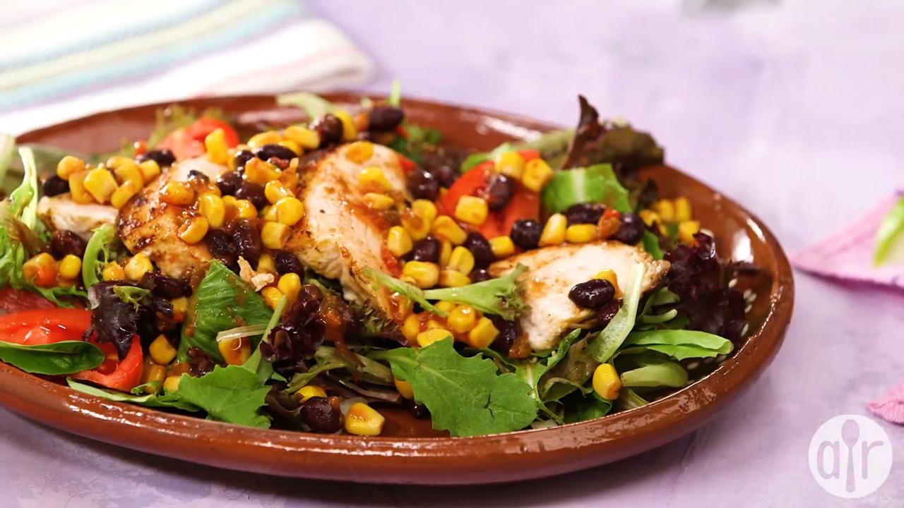chicken fiesta salad video