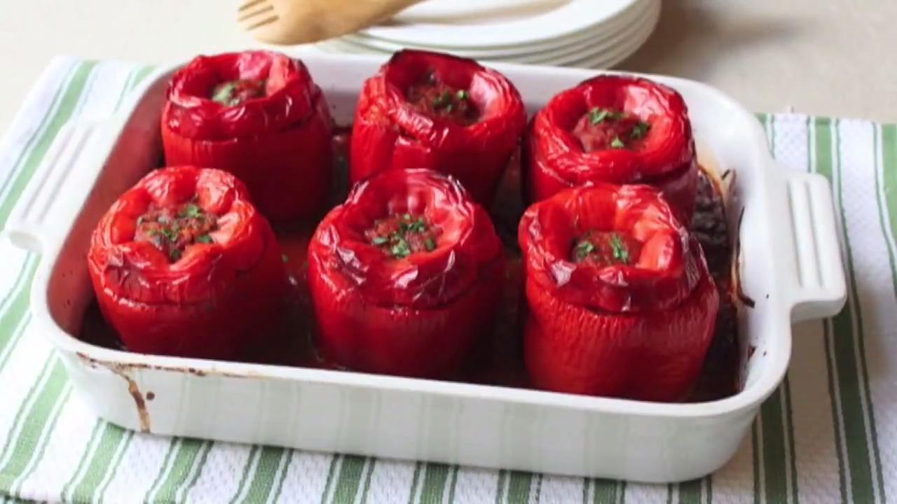 chef johns stuffed peppers video