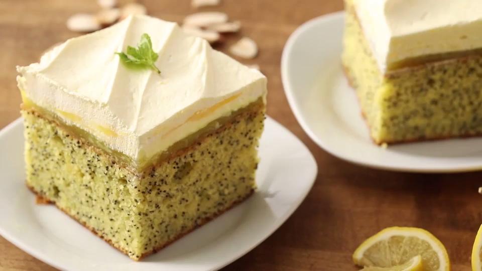 lemon poppy seed dessert cake video