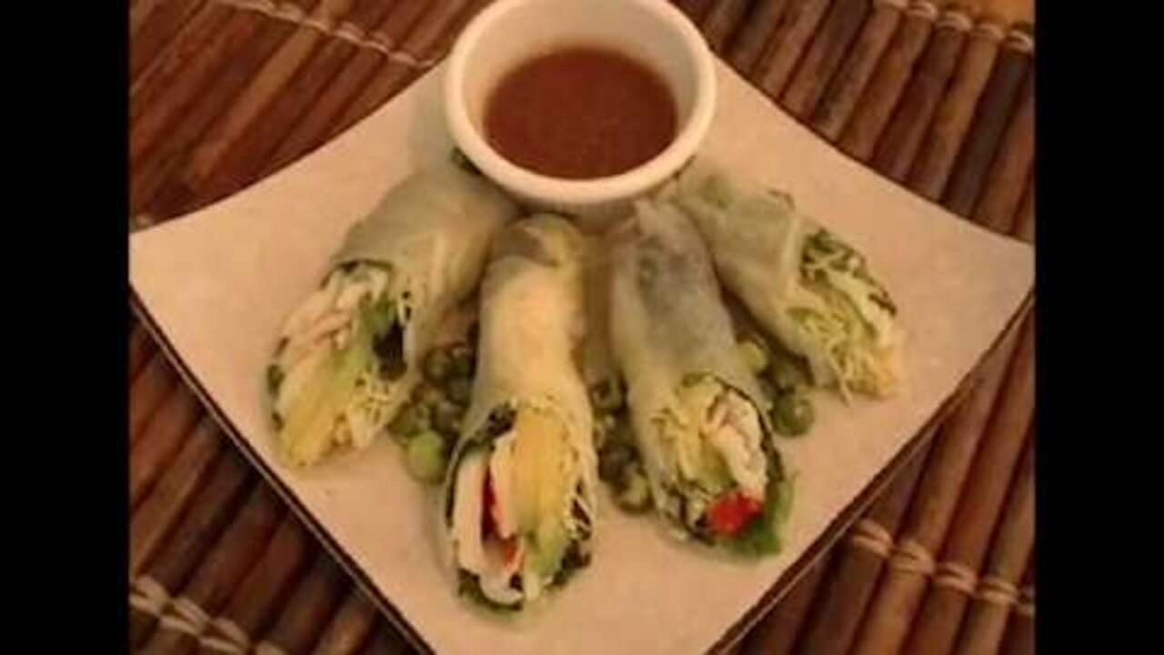 Vietnamese fresh spring rolls video allrecipes how to make a california spring rolls forumfinder Image collections