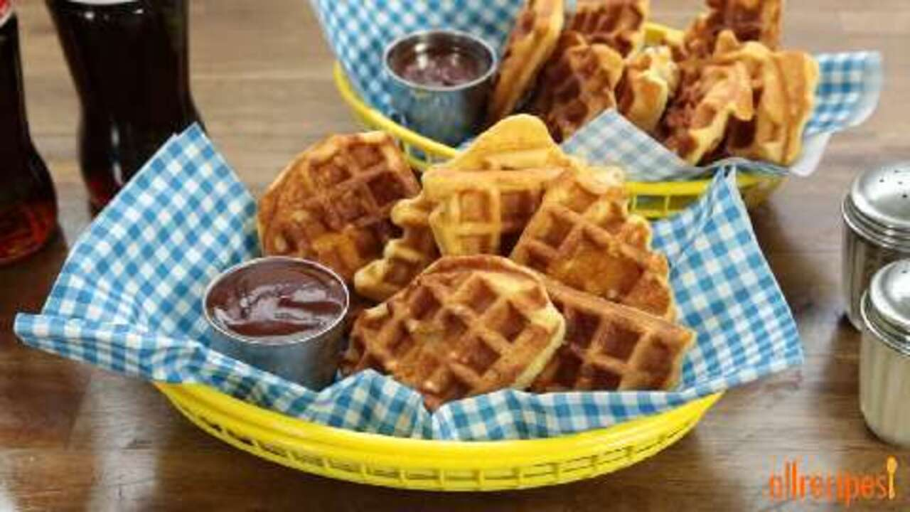 chicken in a waffle video
