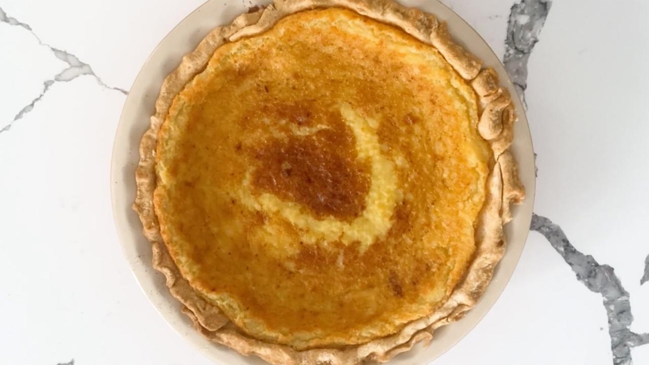 holiday eggnog pie video