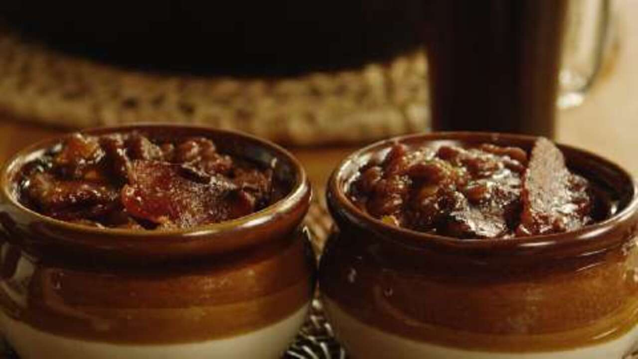 bacon baked beans video