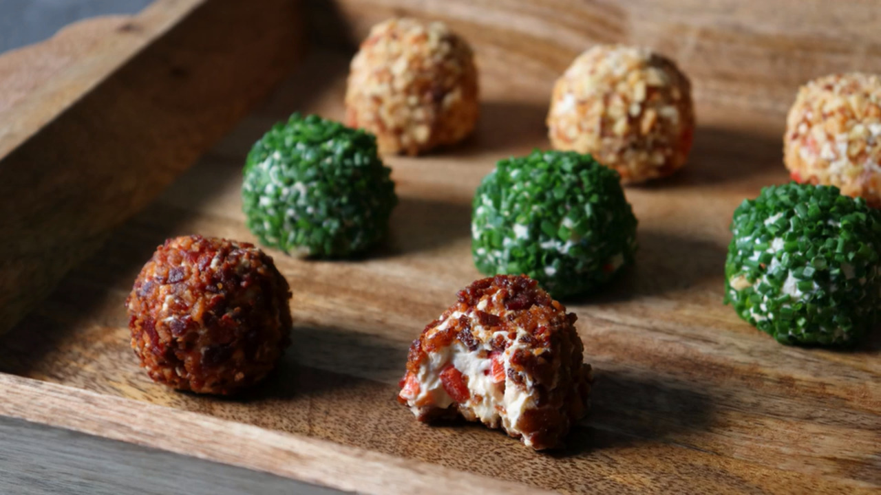 red white and blue cheese balls video