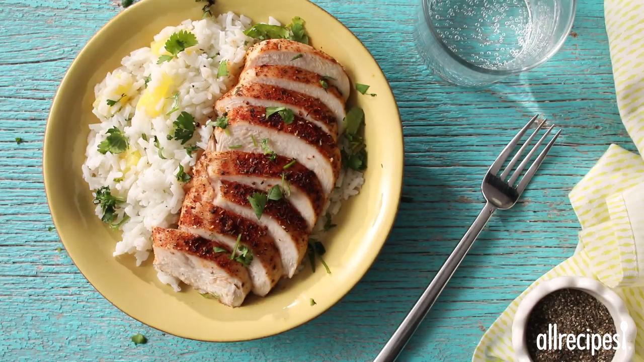 Caribbean Chicken with Pineapple-Cilantro Rice KyleeJo06