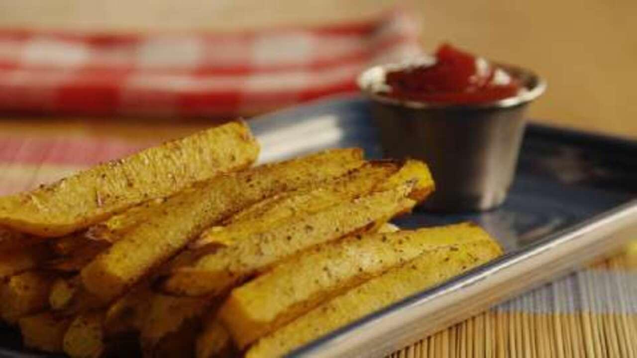 butternut squash cajun fries video