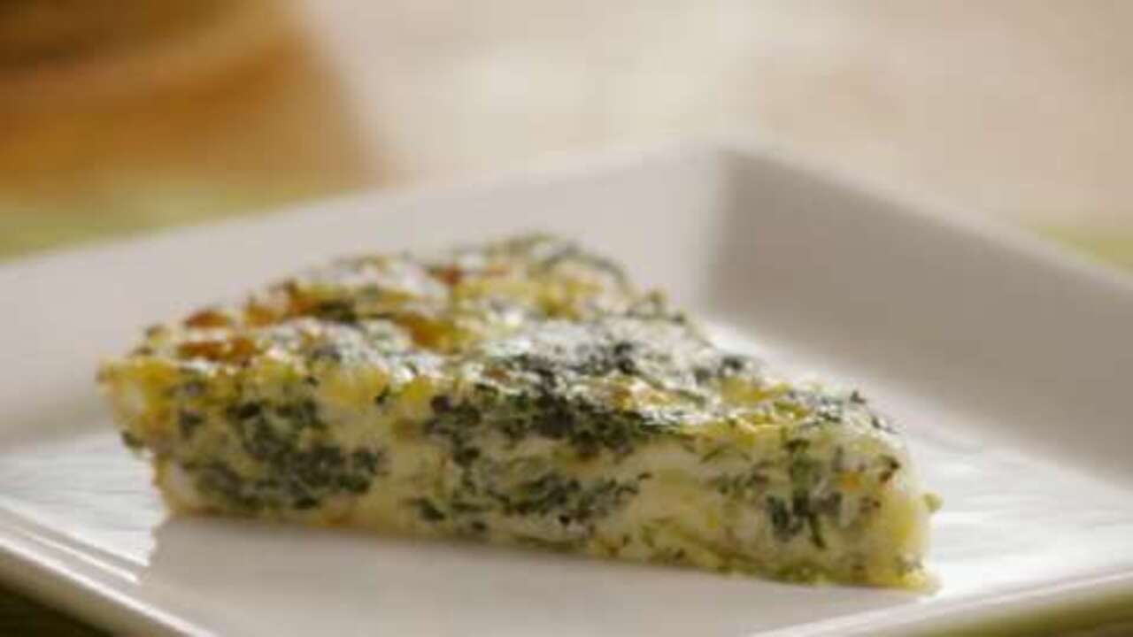 Crustless Spinach Quiche Video Allrecipes Com