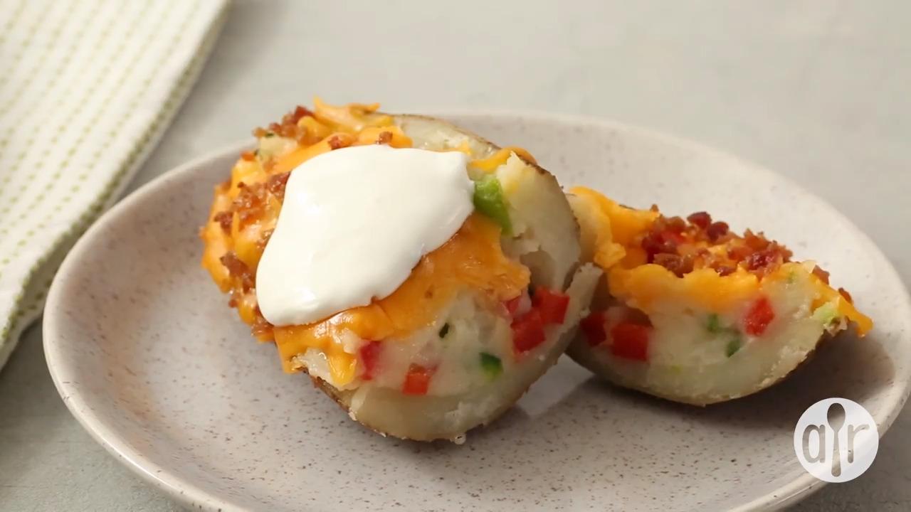 southwestern style twice baked potatoes video