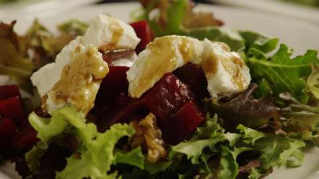 beet salad with goat cheese video