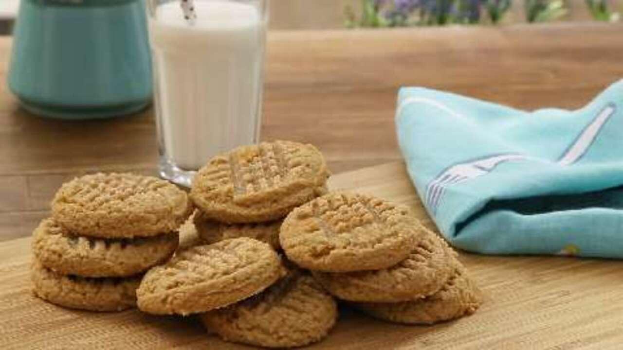 three ingredient peanut butter cookies video