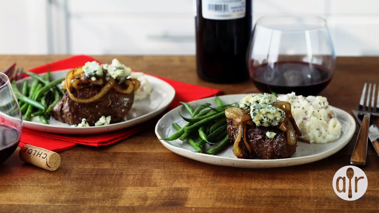 smothered filet mignon video