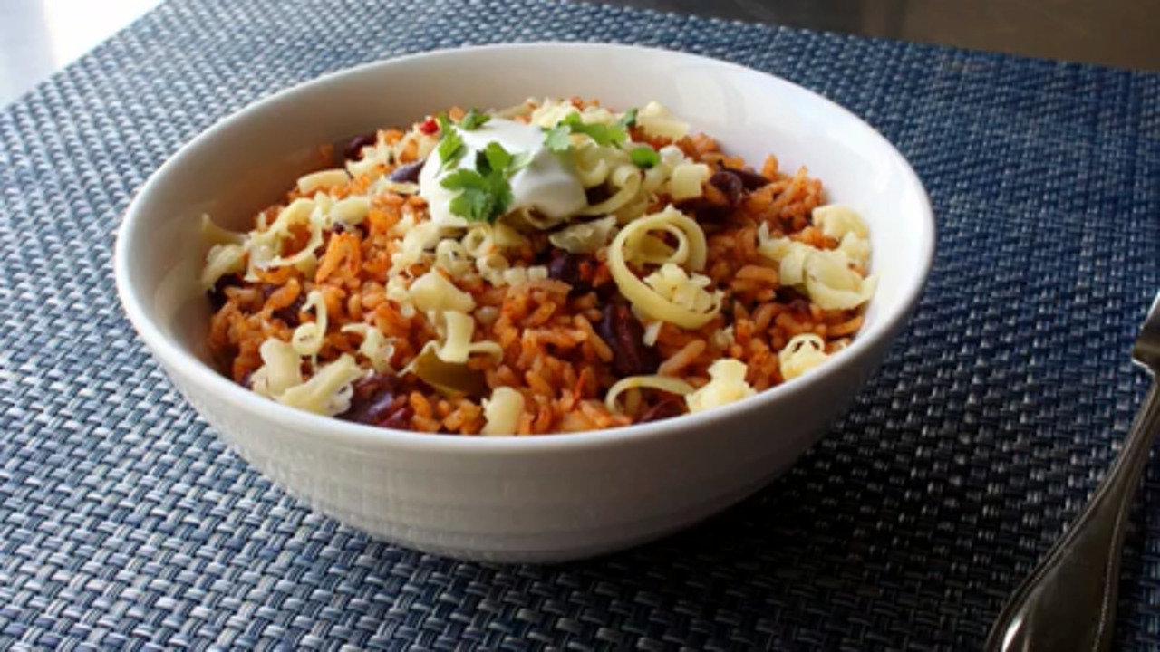the best baked rice and beans video