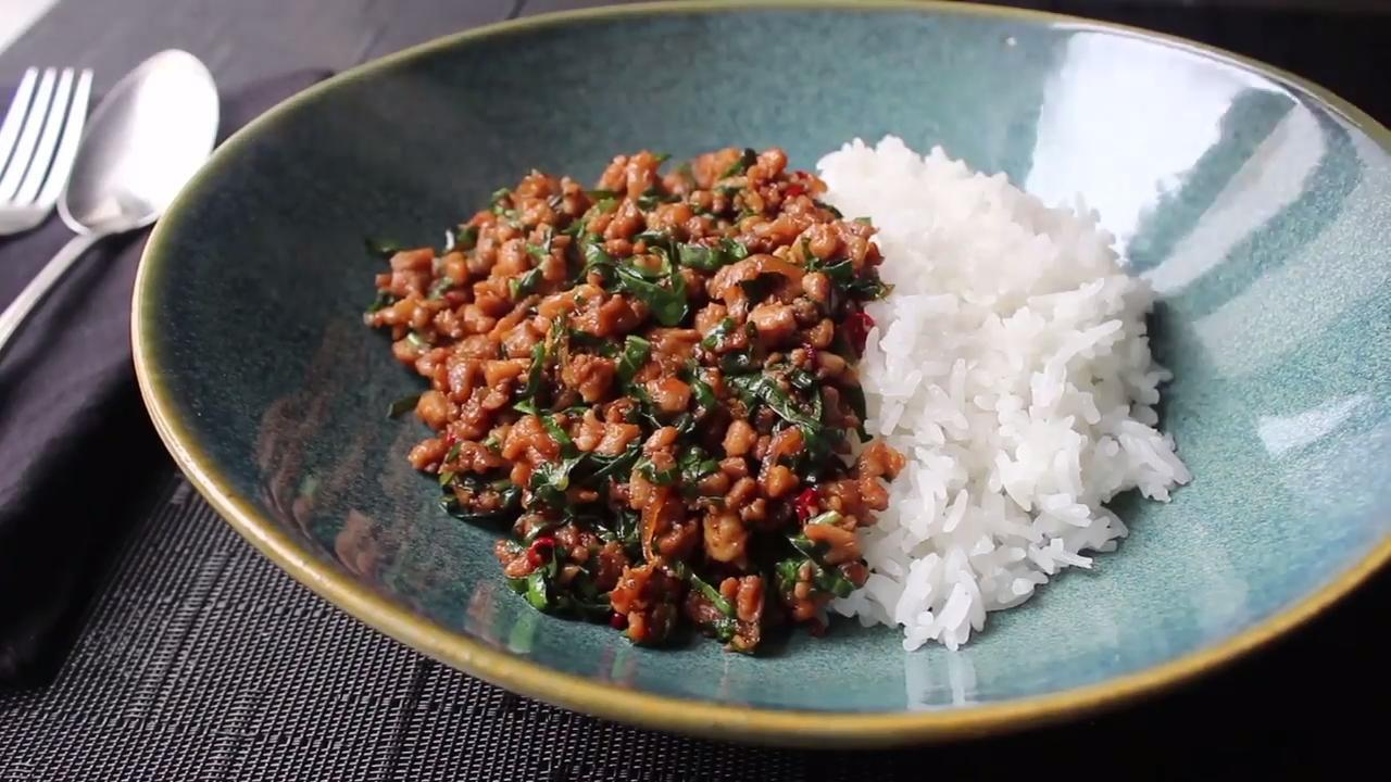 Spicy Thai Basil Chicken Pad Krapow Gai Video Allrecipes Com