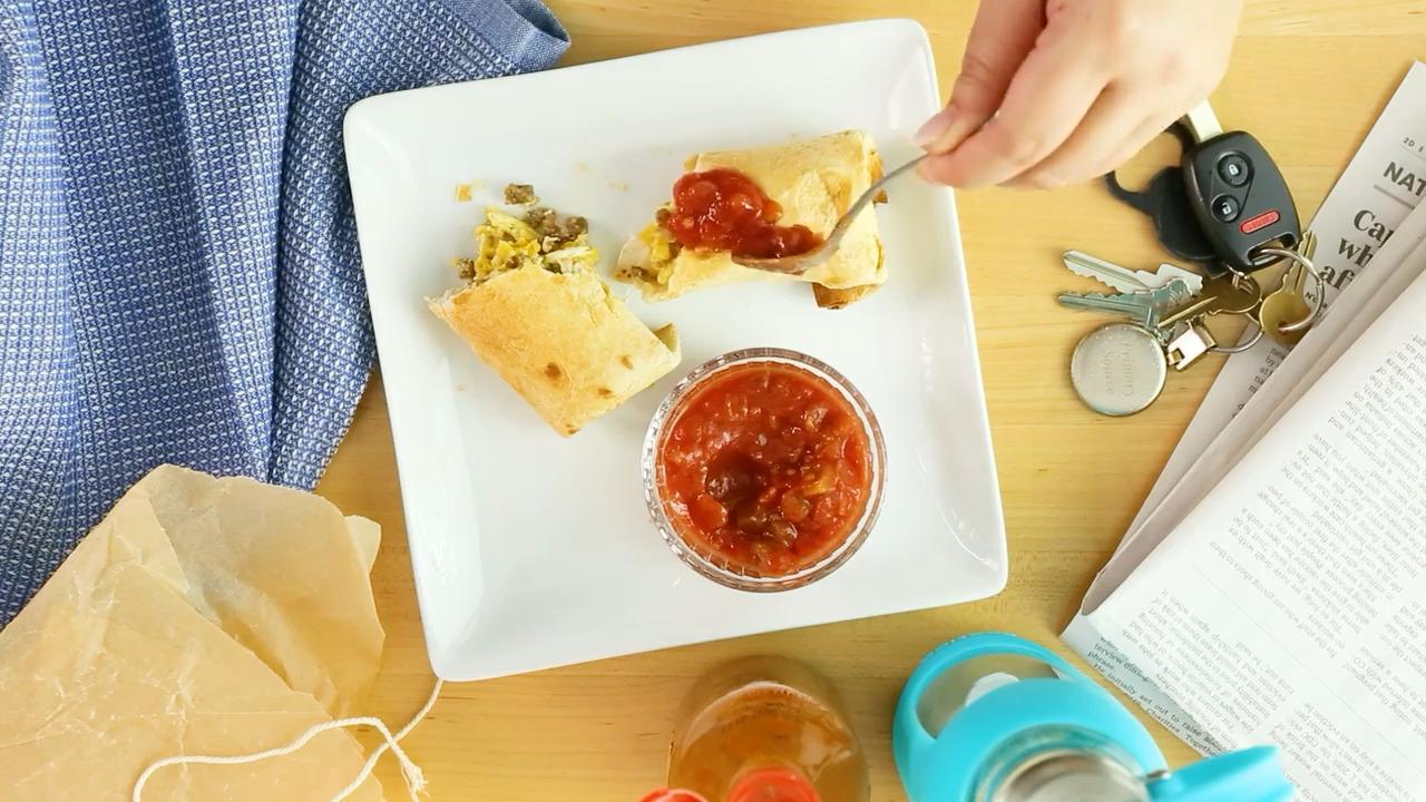 make ahead air fryer breakfast burritos video