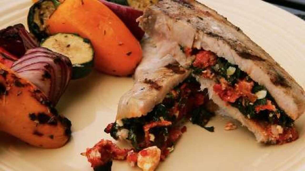 mediterranean stuffed swordfish video