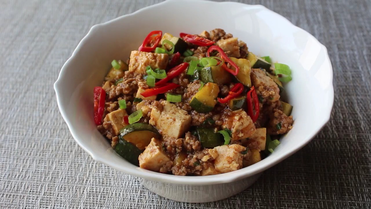 Spicy Pork and Vegetable Tofu Video
