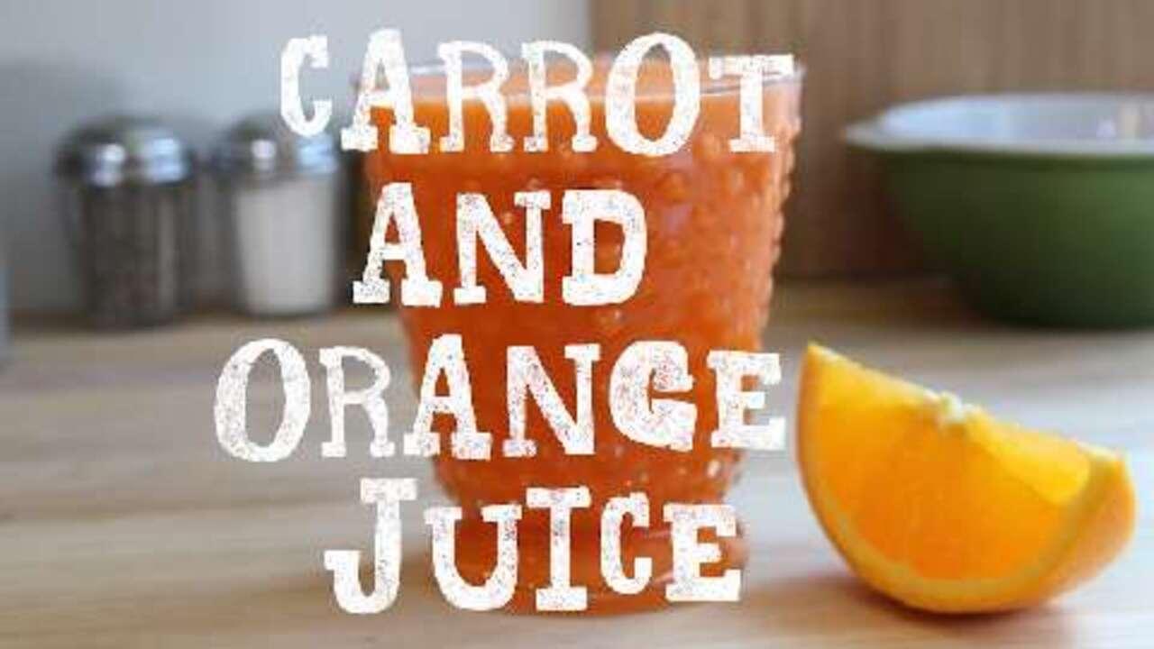 carrot and orange juice video