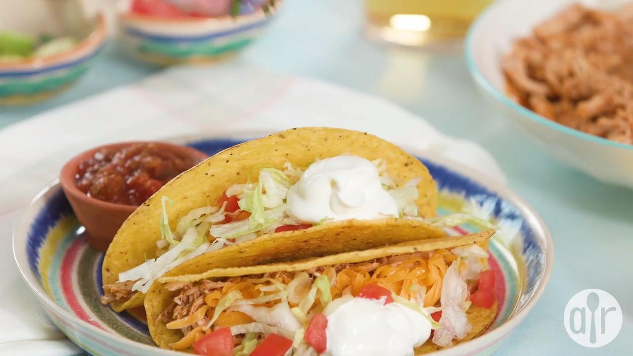 Fiesta Slow Cooker Shredded Chicken Tacos Video