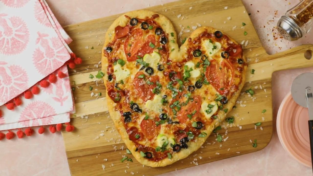 valentine pizza video