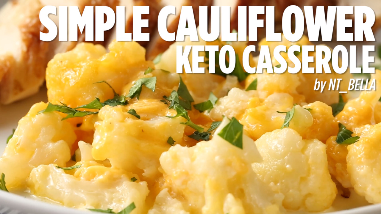 simple cauliflower keto casserole video
