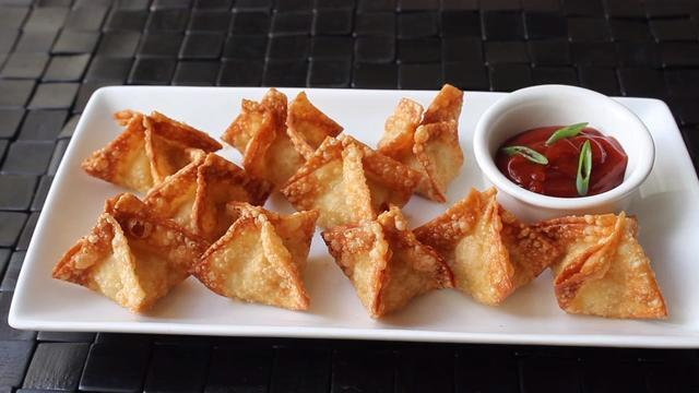 Image result for crab rangoon
