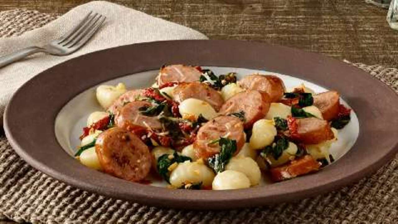 smoked sausage gnocchi with sun dried tomatoes video