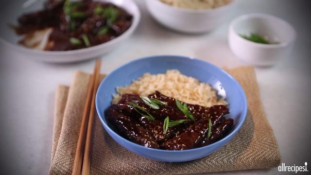 sesame beef video