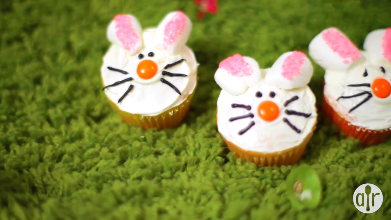 easter bunny cupcakes video