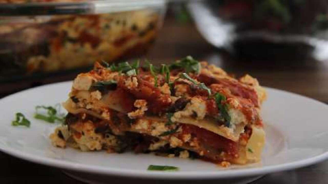 vegan lasagna i video