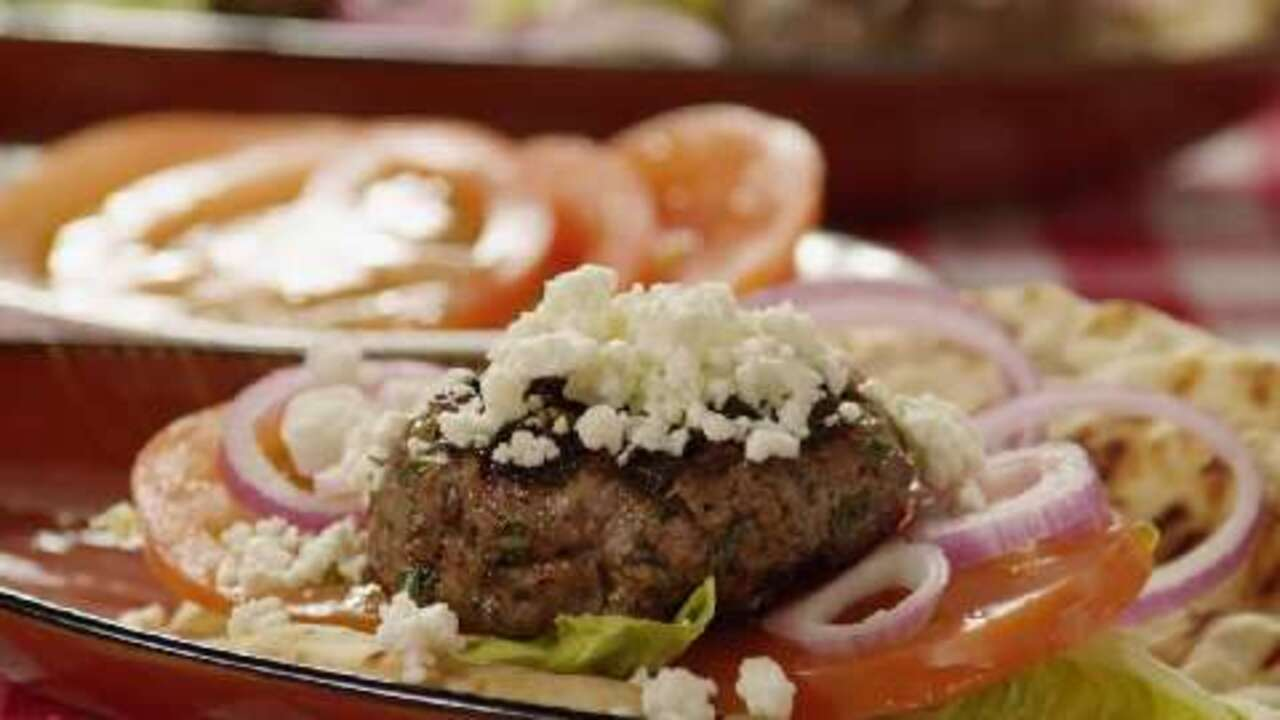 grilled spicy lamb burgers video