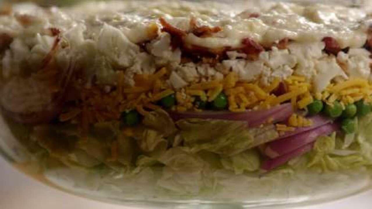 seven layer salad video