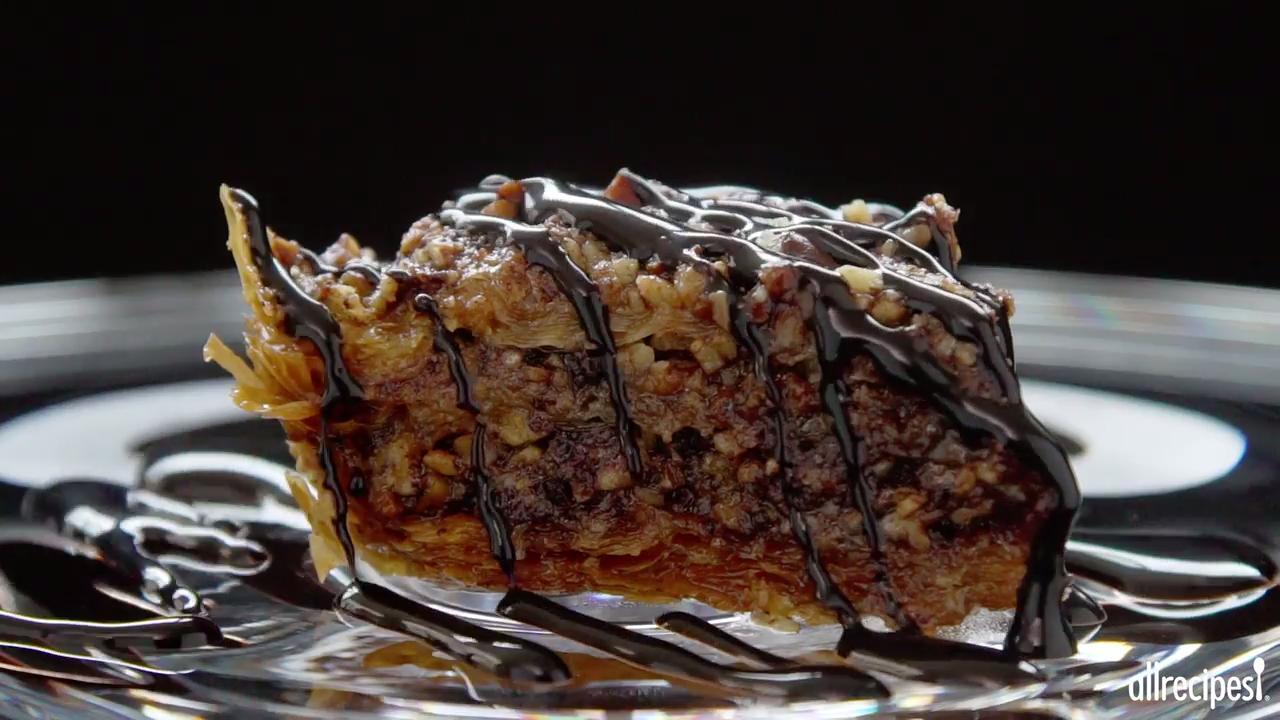 chocolate baklava video