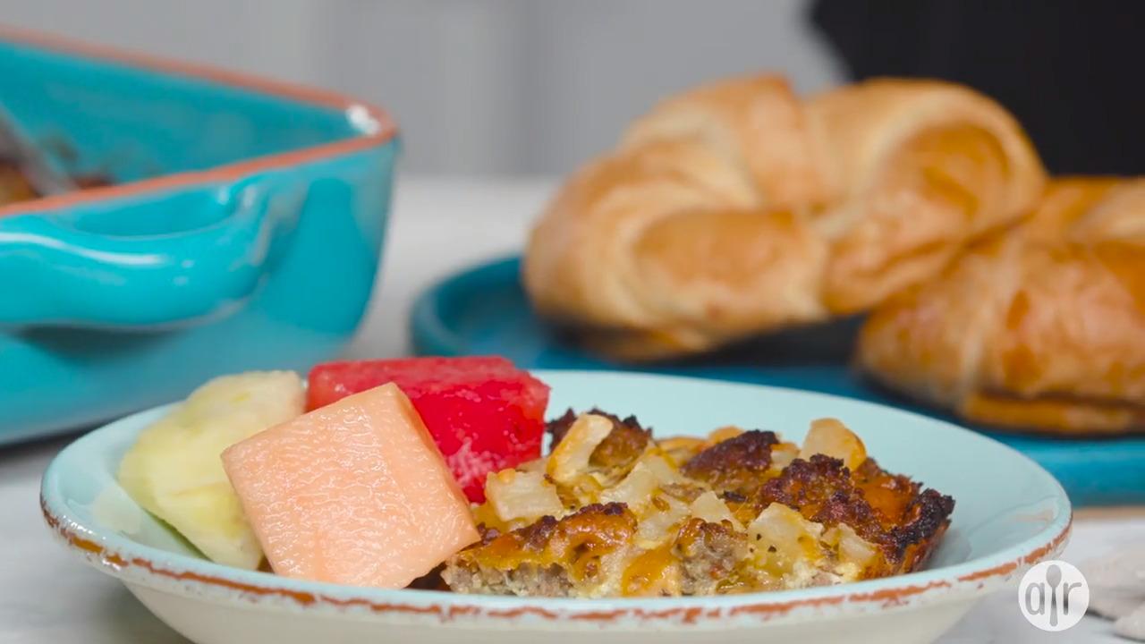 sausage hash brown breakfast casserole video