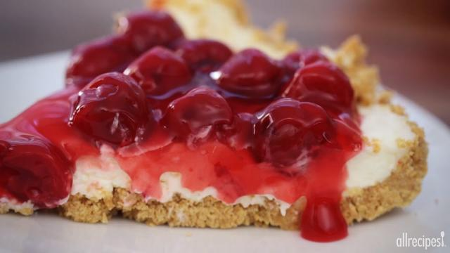 the best unbaked cherry cheesecake ever video