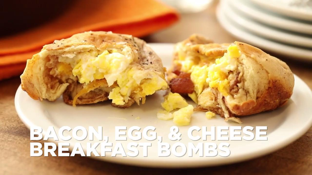 bacon egg and cheese breakfast bombs video