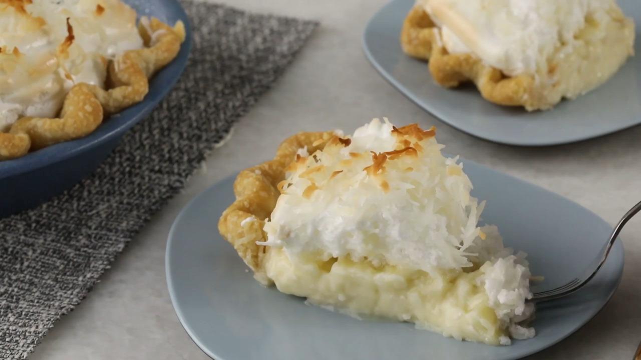 coconut cream meringue pie video