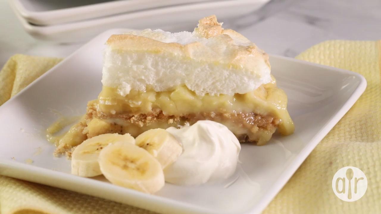 homemade banana pudding pie video