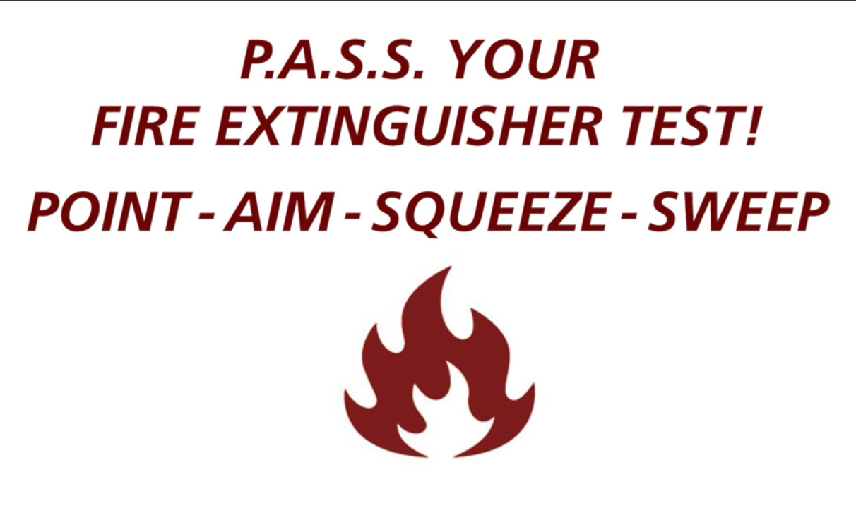 Pass Your Fire Extinguisher Test Campus Safety Umass
